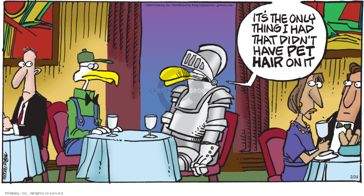 Comic Strip Mike Peters  Mother Goose and Grimm 2019-02-24 garment