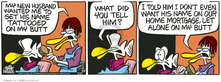 Comic Strip Mike Peters  Mother Goose and Grimm 2019-02-25 relationship