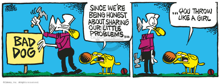 Cartoonist Mike Peters  Mother Goose and Grimm 2019-03-01 dog