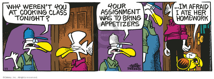 Comic Strip Mike Peters  Mother Goose and Grimm 2019-03-04 excuse