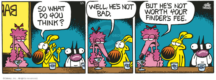 Comic Strip Mike Peters  Mother Goose and Grimm 2019-03-05 bar