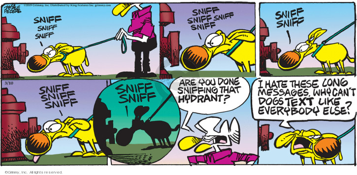 Cartoonist Mike Peters  Mother Goose and Grimm 2019-03-10 dog