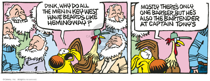 Comic Strip Mike Peters  Mother Goose and Grimm 2019-03-13 man