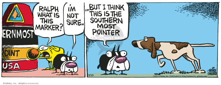 Cartoonist Mike Peters  Mother Goose and Grimm 2019-03-15 Ralph