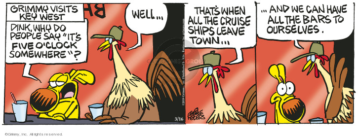Comic Strip Mike Peters  Mother Goose and Grimm 2019-03-16 visit