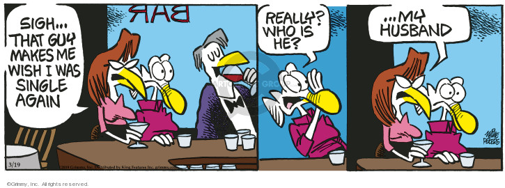 Comic Strip Mike Peters  Mother Goose and Grimm 2019-03-19 bar