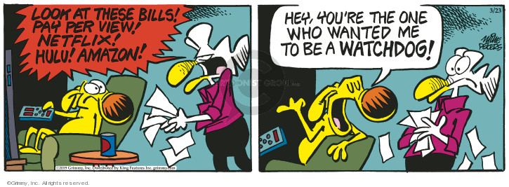 Cartoonist Mike Peters  Mother Goose and Grimm 2019-03-23 watchdog