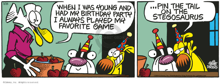 Comic Strip Mike Peters  Mother Goose and Grimm 2019-03-25 playing