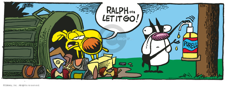 Comic Strip Mike Peters  Mother Goose and Grimm 2019-03-29 germ