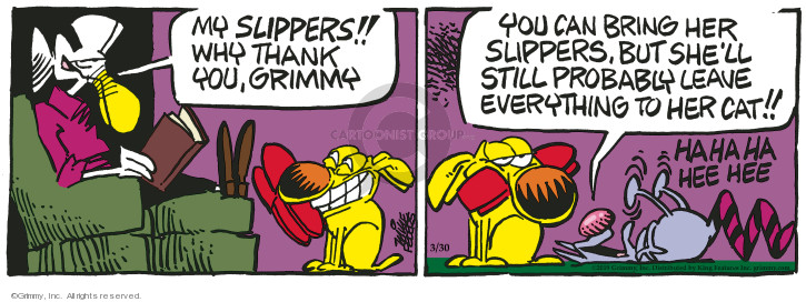 Comic Strip Mike Peters  Mother Goose and Grimm 2019-03-30 fetch