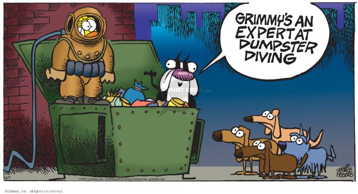Cartoonist Mike Peters  Mother Goose and Grimm 2019-04-07 grimmy