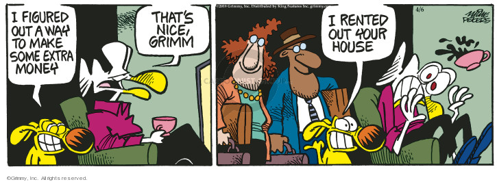 Cartoonist Mike Peters  Mother Goose and Grimm 2019-04-06 house
