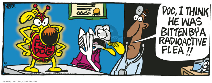 Cartoonist Mike Peters  Mother Goose and Grimm 2019-04-09 dog