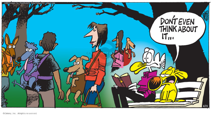 Comic Strip Mike Peters  Mother Goose and Grimm 2019-04-21 carrier