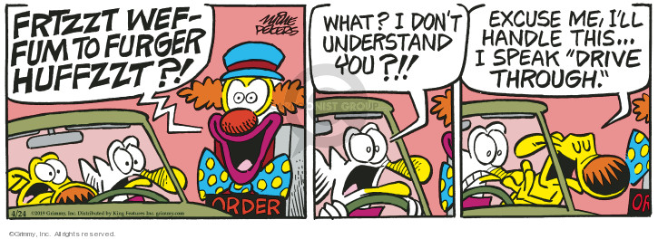 Comic Strip Mike Peters  Mother Goose and Grimm 2019-04-24 dining out