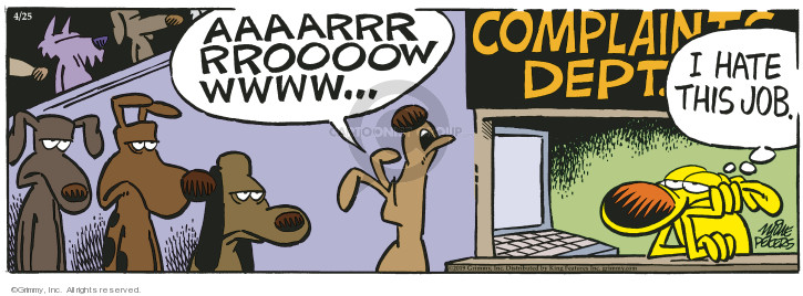 Cartoonist Mike Peters  Mother Goose and Grimm 2019-04-25 bark