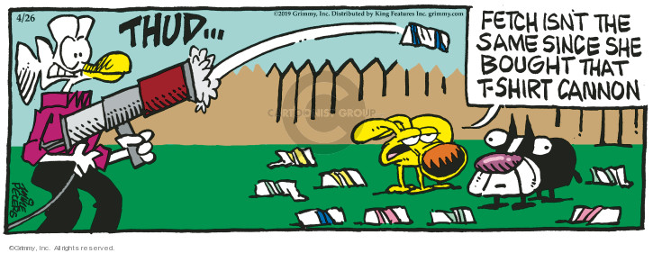 Cartoonist Mike Peters  Mother Goose and Grimm 2019-04-26 goose