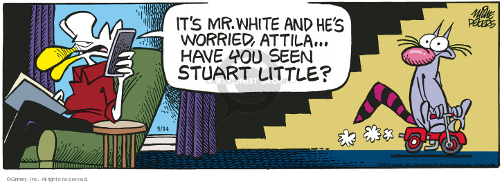 Cartoonist Mike Peters  Mother Goose and Grimm 2019-05-14 white