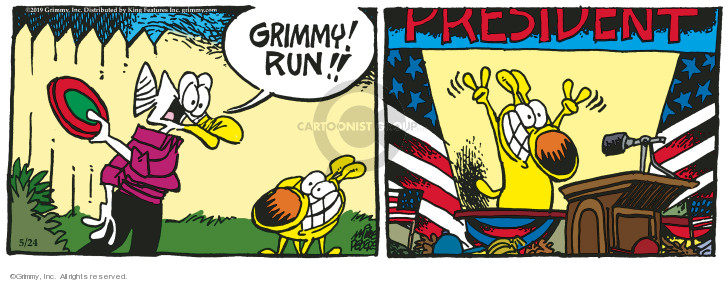 Comic Strip Mike Peters  Mother Goose and Grimm 2019-05-24 frisbee