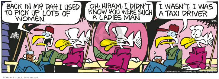 Cartoonist Mike Peters  Mother Goose and Grimm 2019-05-28 goose