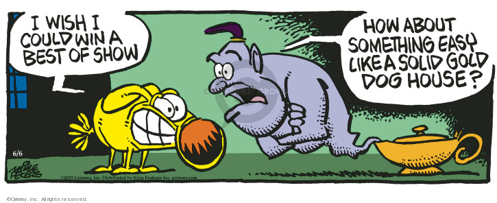 Cartoonist Mike Peters  Mother Goose and Grimm 2019-06-06 goose