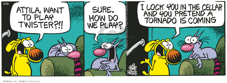 Comic Strip Mike Peters  Mother Goose and Grimm 2019-06-10 playing