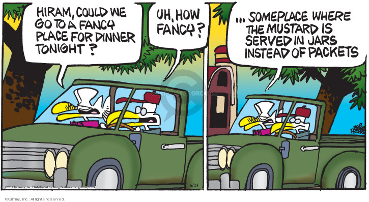 Comic Strip Mike Peters  Mother Goose and Grimm 2019-06-23 dining out