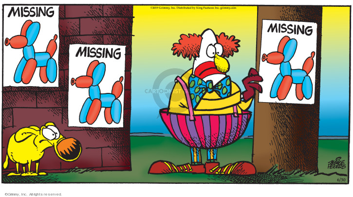 Cartoonist Mike Peters  Mother Goose and Grimm 2019-06-23 lose