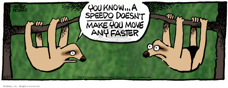 Comic Strip Mike Peters  Mother Goose and Grimm 2019-06-27 faster