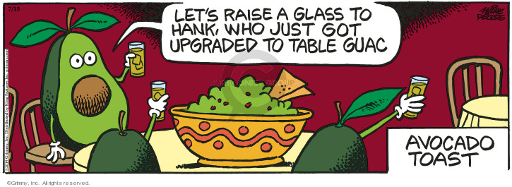 Comic Strip Mike Peters  Mother Goose and Grimm 2019-07-15 avocado
