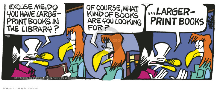 Comic Strip Mike Peters  Mother Goose and Grimm 2019-07-09 elderly