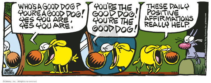 Cartoonist Mike Peters  Mother Goose and Grimm 2019-07-13 positive