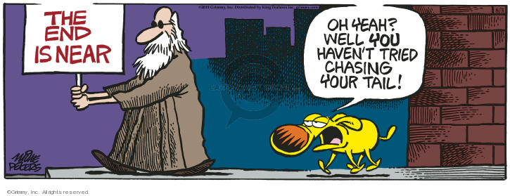 Comic Strip Mike Peters  Mother Goose and Grimm 2019-08-03 chase