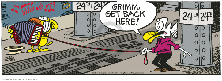 Comic Strip Mike Peters  Mother Goose and Grimm 2019-08-06 plays