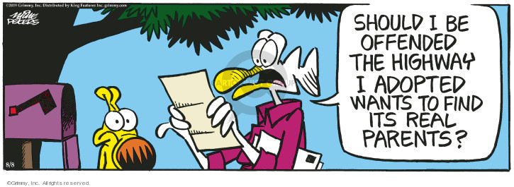 Comic Strip Mike Peters  Mother Goose and Grimm 2019-08-08 parent