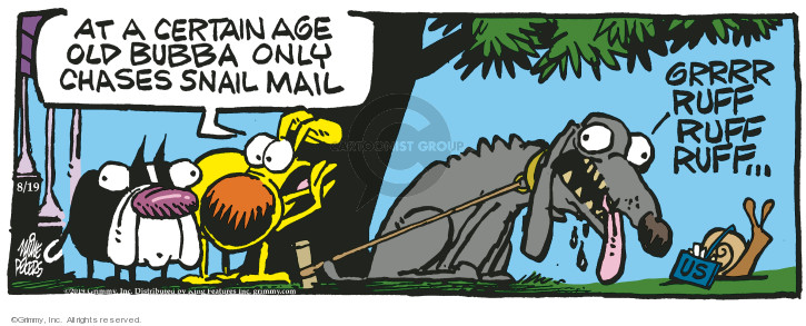 Comic Strip Mike Peters  Mother Goose and Grimm 2019-08-19 age