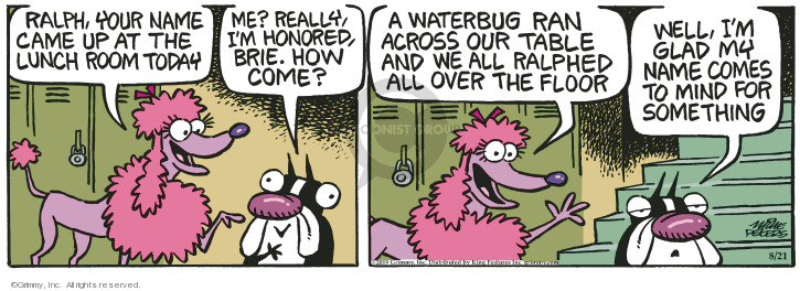 Cartoonist Mike Peters  Mother Goose and Grimm 2019-08-21 Ralph