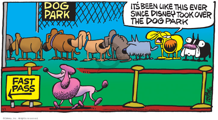 Comic Strip Mike Peters  Mother Goose and Grimm 2019-09-01 park
