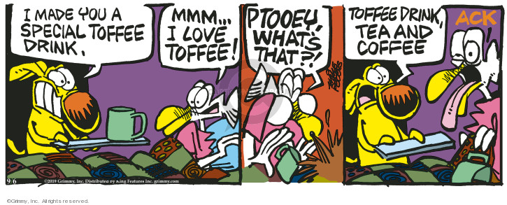 Comic Strip Mike Peters  Mother Goose and Grimm 2019-09-06 drink