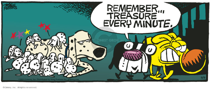 Comic Strip Mike Peters  Mother Goose and Grimm 2019-09-09 puppy dog