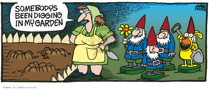 Cartoonist Mike Peters  Mother Goose and Grimm 2019-09-10 dig