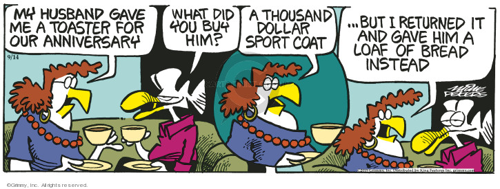 Comic Strip Mike Peters  Mother Goose and Grimm 2019-09-14 give