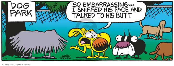 Comic Strip Mike Peters  Mother Goose and Grimm 2019-09-16 park
