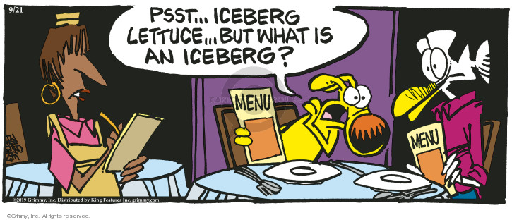 Comic Strip Mike Peters  Mother Goose and Grimm 2019-09-21 dining out
