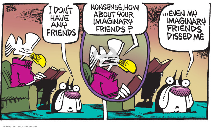 Comic Strip Mike Peters  Mother Goose and Grimm 2019-09-22 imagination