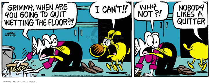 Comic Strip Mike Peters  Mother Goose and Grimm 2019-09-26 pee