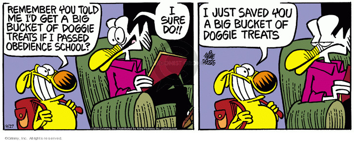Cartoonist Mike Peters  Mother Goose and Grimm 2019-09-27 bucket