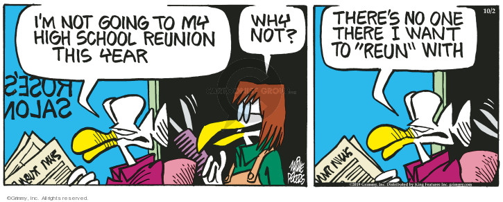 Cartoonist Mike Peters  Mother Goose and Grimm 2019-10-02 goose