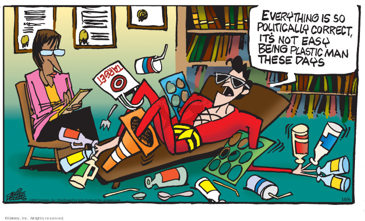 Cartoonist Mike Peters  Mother Goose and Grimm 2019-10-06 therapy