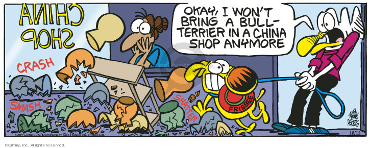 Comic Strip Mike Peters  Mother Goose and Grimm 2019-10-12 frisbee